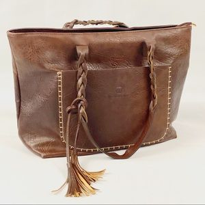 WEIMEIBAIGE oversized vegan leather shoulder bag